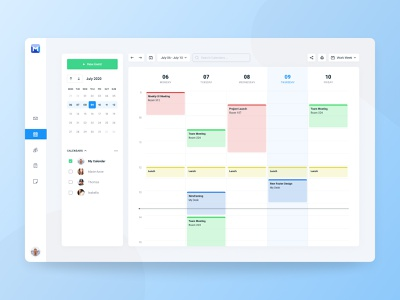 Mail Client - Calendar outlook light interface figma calendar desktop dashboard clean app ux ui simple jakob treml