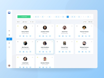 Mail Client - Contacts design jakob treml simple ux ui app clean dashboard contacts figma interface light outlook