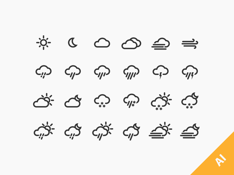 Weather Icons jakob treml free download weather icon icons vector freebie