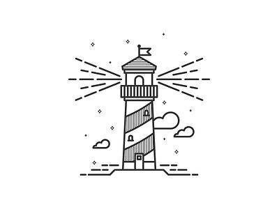 Lighthouse lines simple vector building lighthouse sea illustration jakob treml