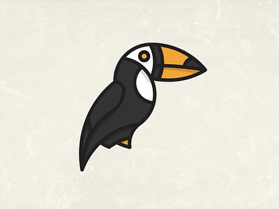 Toucan animal toucan bird vector illustration simple line lines jakob treml