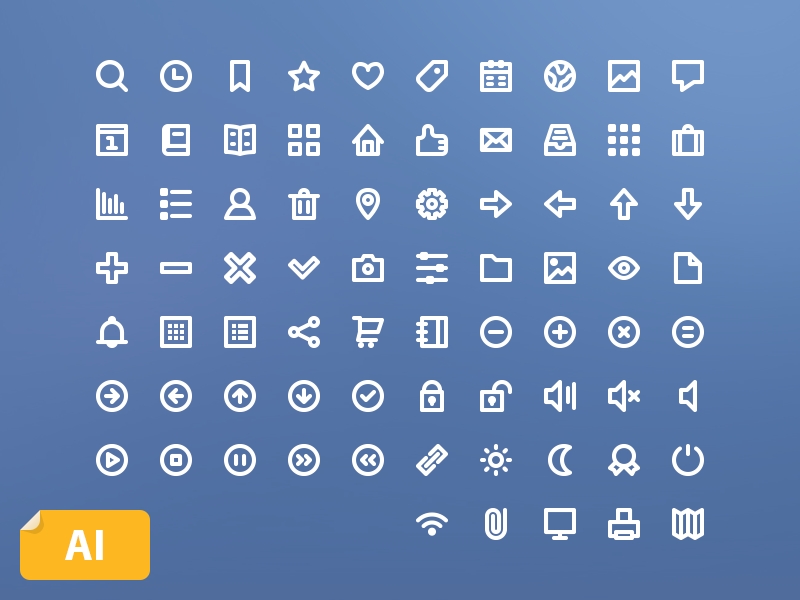 75 Free Line Icons icon icons line stroke free freebie ai vector simple set minimal jakob treml