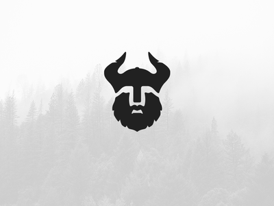 Viking beard horns viking simple vector illustration identity logomark mark logo jakob treml