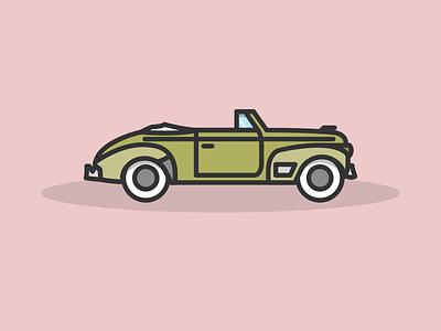 Chevrolet Special DeLuxe 1941 flat lines simple vector oldtimer chevrolet car illustration jakob treml