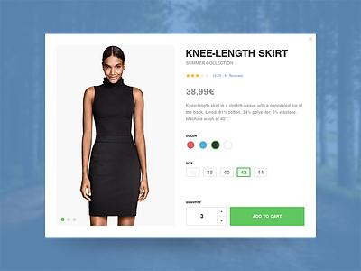 Product Card - Clothing interface modal e-commerce clothing card simple webdesign flat product ux ui jakob treml