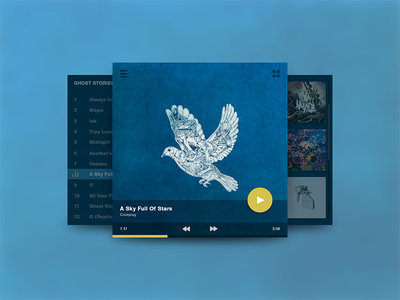 Music Player jakob treml widget player music interface clean simple ux ui