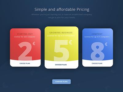 Plans simple plans pricing ux ui web webdesign