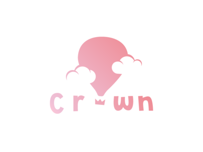 Crown Logo - Daily Logo Challenge #01 hot air balloon air balloon daily logo challenge logotype logo challenge logo graphics design balloon crown fly clouds