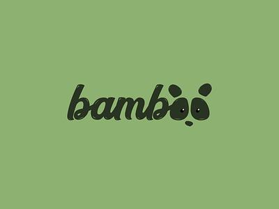 Bamboo Logo - Daily Logo Challenge #03 panda design graphics logo logo challenge bamboo nature logotype daily logo challenge