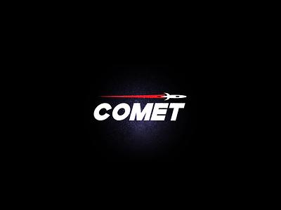 Comet Logo - Daily Logo Challenge #04 daily logo challenge logotype logo challenge logo graphics design space spaceship comet rocket rocketship galaxy