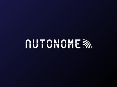 Autonome Logo - Daily Logo Challenge #05 technology speed self drive auto tesla cars design graphics logo logo challenge logotype daily logo challenge