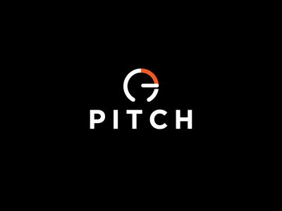 Pitch Logo - Daily Logo Challenge #06 daily logo challenge logotype logo challenge logo graphics design minimalist simple sound music stream pitch music