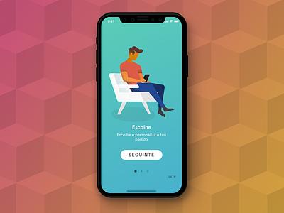 Goodie App Screen iphonex app design illustration layout ux ui app colorful branding gifts goodies