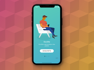 Goodie App Screen iphonex app design illustration layout ux ui app colorful branding gifts goodies