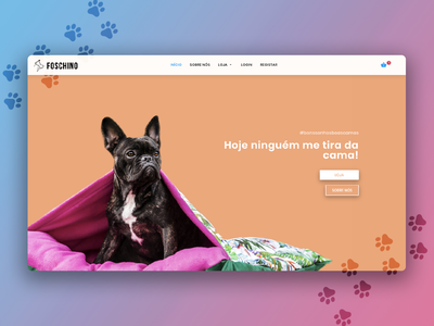 Pets Website - Home Page gradients cute colorfull dogs pets web design ux ui graphics design