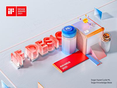 iF 2021 Award Promotion sketch branding clean blender3d blender ui web design illustration 3d