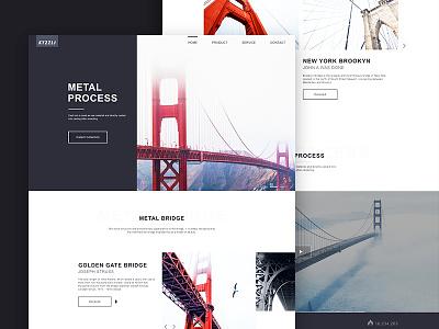 Iron and steel art clean sketch design bridge famous steel webdesign webpage web ui