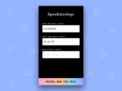 Spookstrology 🔮 👻 space inknut antiqua space mono gradients astrology react native