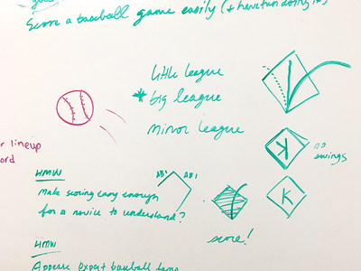 ⚾ Baseball Team design sprint sports scoring baseball