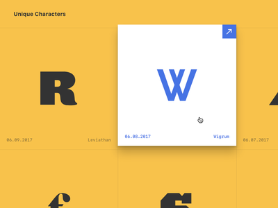 Unique Characters characters letters middleman typography