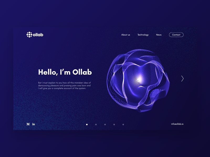 Ollab | Web design identity design idenity technology science ai web design ai startup web web design webdesign website web minimal illustration ux ui gradient branding brand startup design