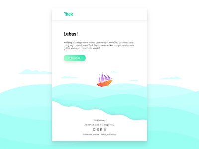Email template | UI/UX simple newsletter gradient blue pirate uiux sea trip ship design template email