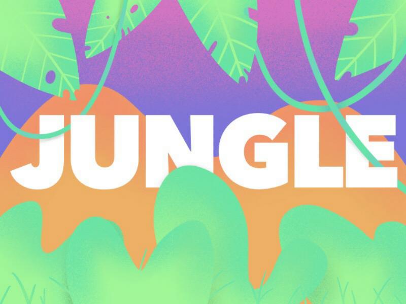 Jungle | Illustration ipad procreate drawing leaves bushes colorful vibrant nature pink purple green jungle illustrator illustration
