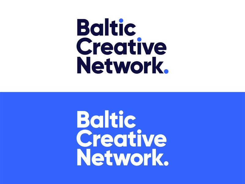 BCN   Logo design creative network community logo community baltics minimal simple flat logotype typography blue logo design branding logo brand startup design