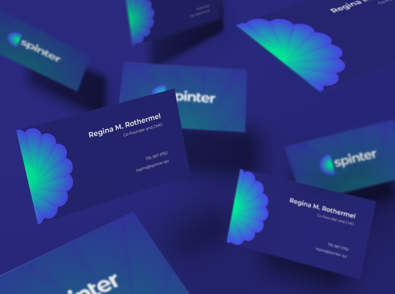 Spinter business card | Identity design mockup business card branding and identity identity design identity blue branding logo design gradient logo brand startup vector design