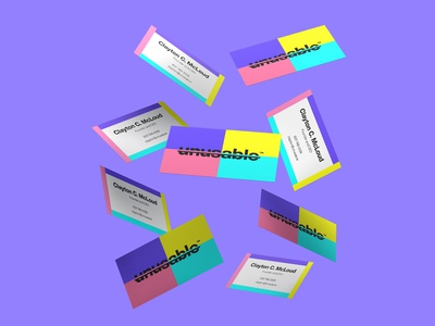 unusable business card | Identity design