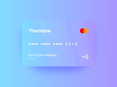 Theodore credit card | Identity design
