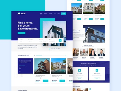 Houze Real-estate Template design creative clean ui uiuxdesign uidesign property search house real estate website website design webdesign real estate