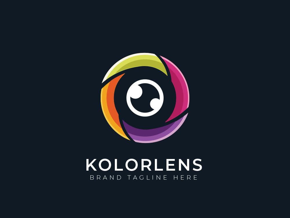 Eye Lens Logo simple creative mascot branding illustration design vector business logos logo
