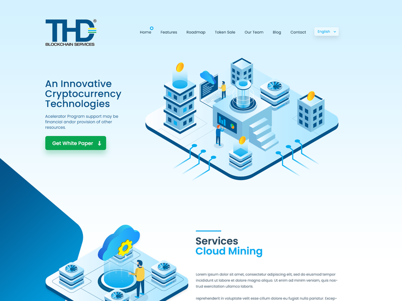 Thd Landing Page web design website cryptocurrency clean illustration design simple business creative