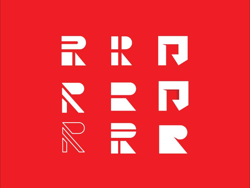 R Variations brand identity graphicart branding graphic design logo