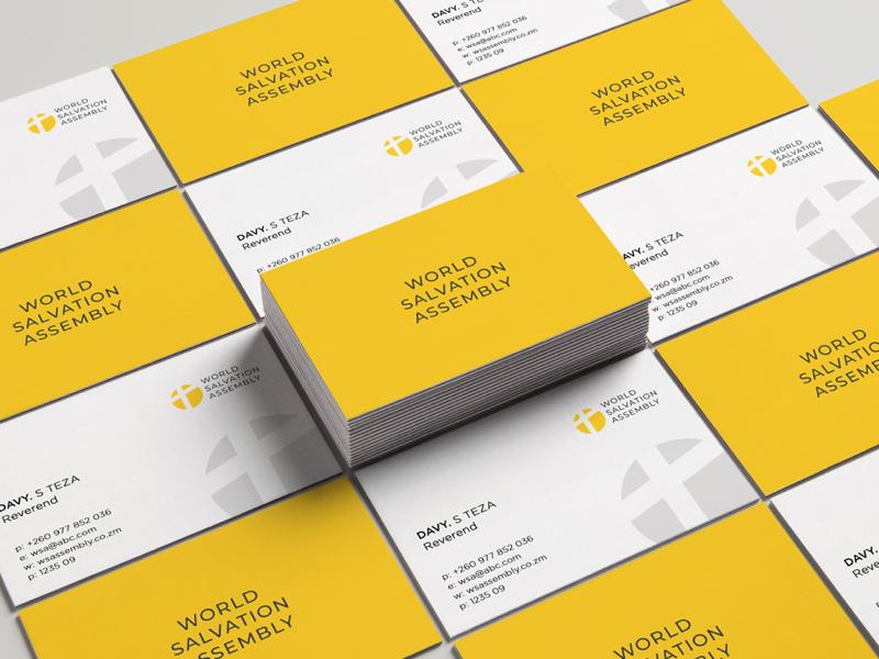 WSA Business card design minimalism graphic design business card brand identity