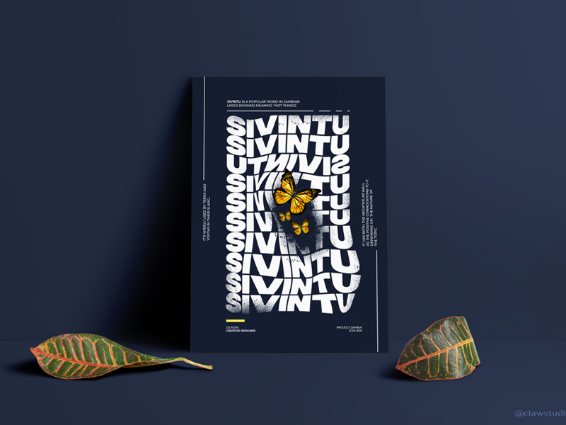 Sivintu Poster Design minimalism photoshop graphic design poster