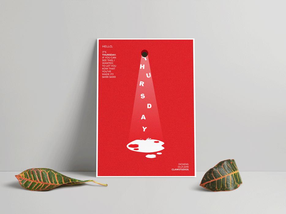 Thursday Splash illustration corporateidentity brand identity minimalistic poster challenge poster art graphic design