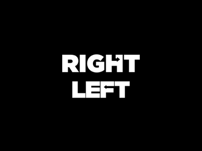 Right & Left concept identity vector simple branding negative space clever monogramy logo design
