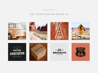 Get your kicks on Route 66 – Moodboard