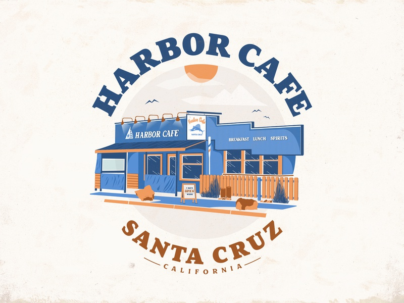 Harbor Cafe Logo design vectorart cafe logo vector illustration harbor