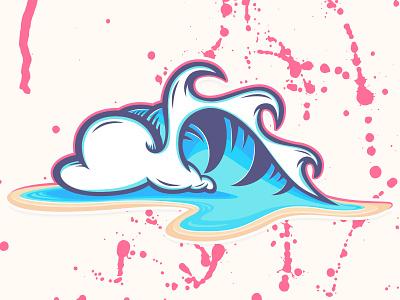 Sketch Book Wave #18,222 santa cruz logo tac waves ocean illustrator design art vector illustration wave