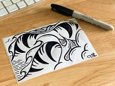 Sharpie tubes 🌊 🌊 sketch santa cruz logo tac waves wave ocean design art illustration sharpie