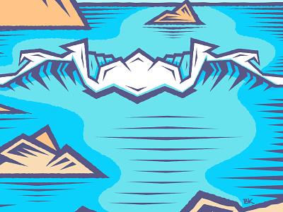 Earth Day for the W 🌏 sketch santa cruz tac illustrator design art illustration vector ocean waves wave earth day