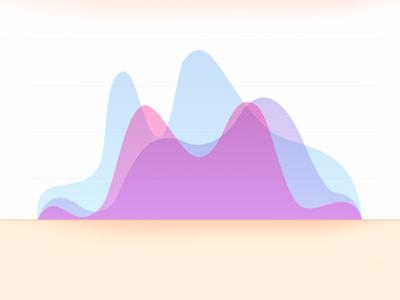 Area chart eye candy graph chart vector analytics statistics area chart