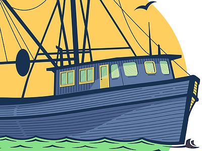 Gone fishin' vector boat fish fishing