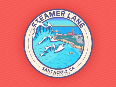 Steamer Lane Santa Cruz, Ca santa cruz the lane ocean waves wave design art steamer lane