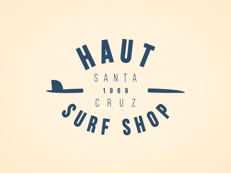 Haut Surfshop Logo (WIP) mark logo design art surfshop surfing surf
