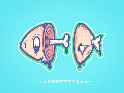 Fresh Fish design art illustration fish vector