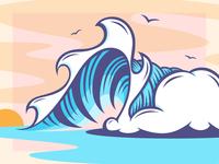 Sketchbook wave